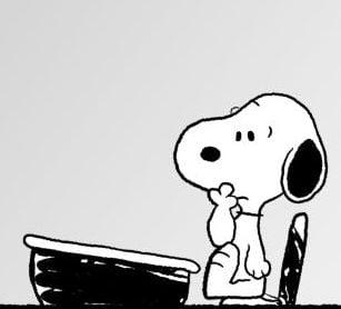 Snoopy at desk peanuts 3089123 1024 768