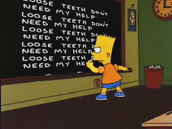 The Old Man and the C Student Chalkboard Gag