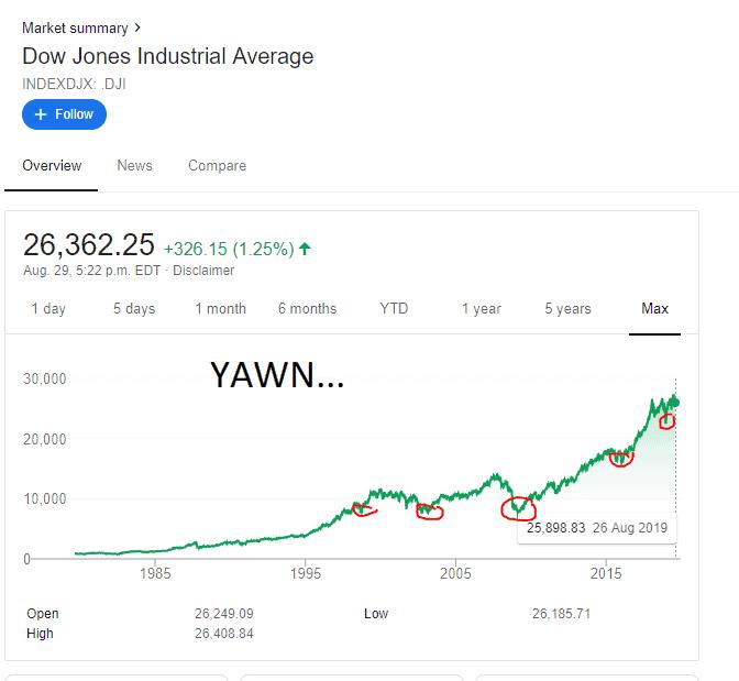 DJI historical chart max view